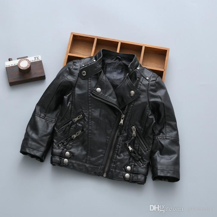 Mode Frühling Herbst Kinder Jacke Pu-leder Mädchen Jacken Kleidung Kinder Outwear Für Baby Mädchen Jungen Kleidung Mäntel Kostüm