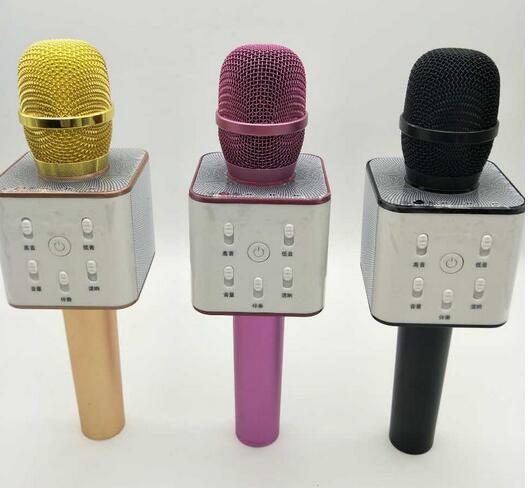 q7 q9 wireless microphone bluetooth speaker with 2600mah large capacity battery karaoke. Black Bedroom Furniture Sets. Home Design Ideas