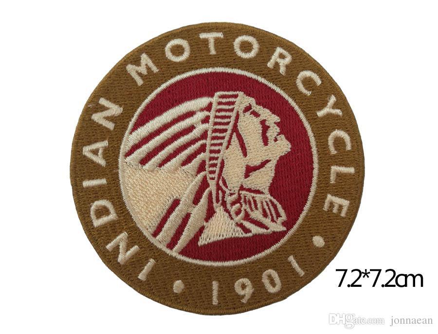 / set 1901 INDIAN MOTORCYCLE 바이커 클럽 MC 프론트 자켓 베스트 패치 자수 무료 배송