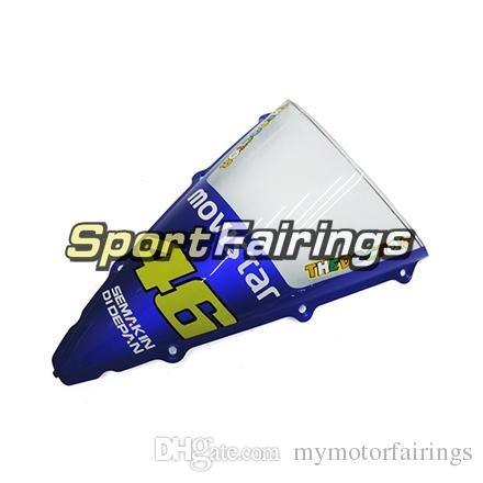 FIAT 46 Blue White Fairings For Yamaha YZF1000 R1 YZF-R1 Year 2002 2003 02 03 Plastics ABS Motorcycle Fairing Kit Bodywork Motorbike Covers