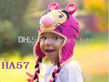 Compre Tiger Crochet Patrón Sombrero Bebé Niño Niña Invierno Gorras De  Navidad Niño Recién Nacido Niño Niños Beanie Earflaps 100% Algodón Apoyos De  La Foto ... ff9bbc22914