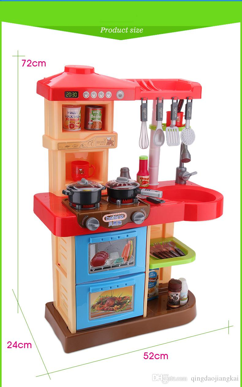 2019 Beiens Brand Toys Kids Kitchen Set Children Kitchen Toys Large Kitchen  Cooking Simulation Model Play Toy For Girl Baby From Qingdaojiangkai, ...