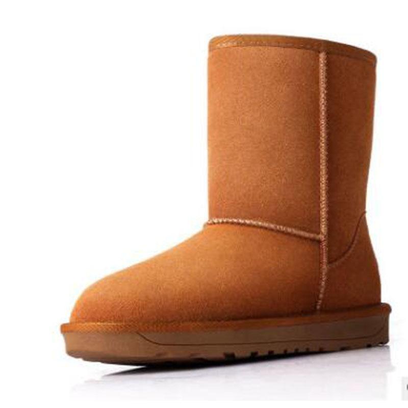 b0f8ebf6a68c13 Acheter Ventes Chaudes Femmes D'hiver Neige Bottes Filles Classique Grandes Bottes  Femmes Chaussures De Travail Chaussures En Cuir Bottes UE Taille 34 40 De  ...