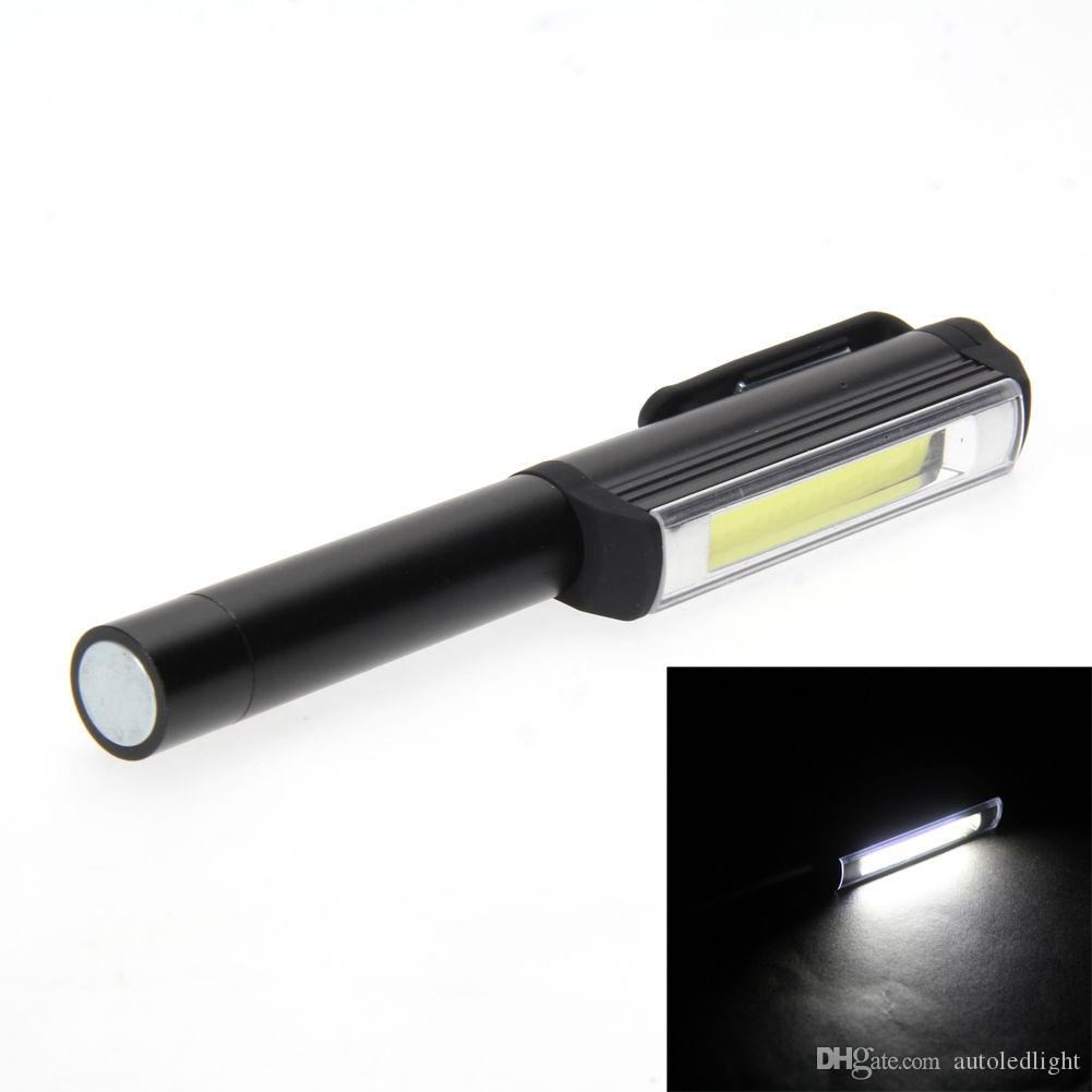 300LM Aluminum LED COB Pen Pocket Torch Lamp Magnetic Inspection Work Lamp Surgical Doctor Emergency Reusable