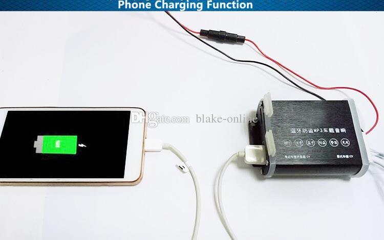 2.5-Zoll-Schädel-Motorrad-Bluetooth-Audio-Stereo-Verstärker-Anti-Diebstahl-Alarm-Lautsprecher Auto FM-Radio-Hi-Fi-Sound MP3 USB-Telefongebühr
