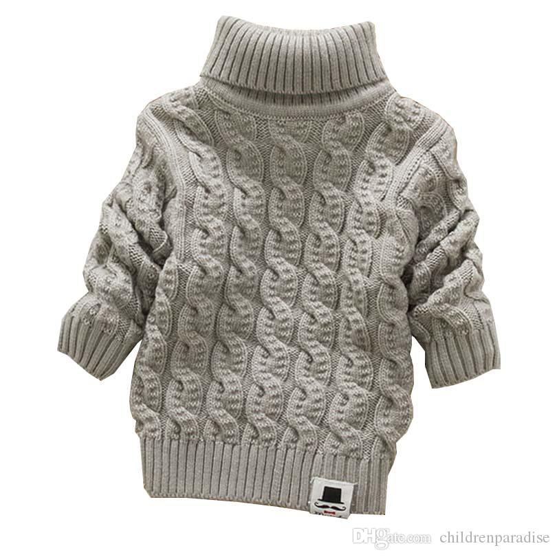 ccbcda826 Boys Girls Turtleneck With Beard Label Solid Baby Kids Sweaters Soft Warm  Sueter Infantil Autumn Winter Children S Sweater Coats Sweater Design For  Kids In ...
