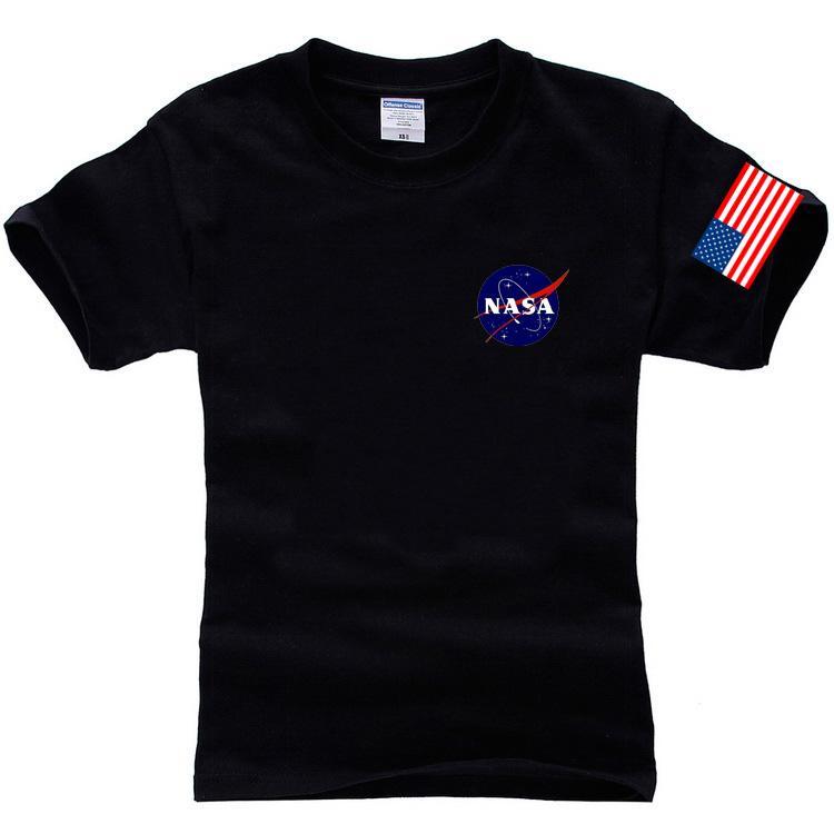Nasa T Shirt Men Fashion Summer 100% Cotton Hip Hop Tees Brand ...