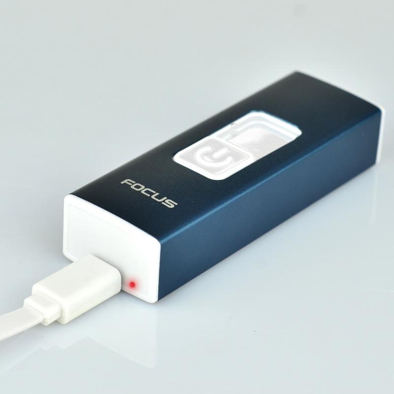 Горячие продажи аккумуляторная электронные зажигалки ветрозащитный зажигалка прикуривателя новая мода курение ветрозащитный USB зажигалка