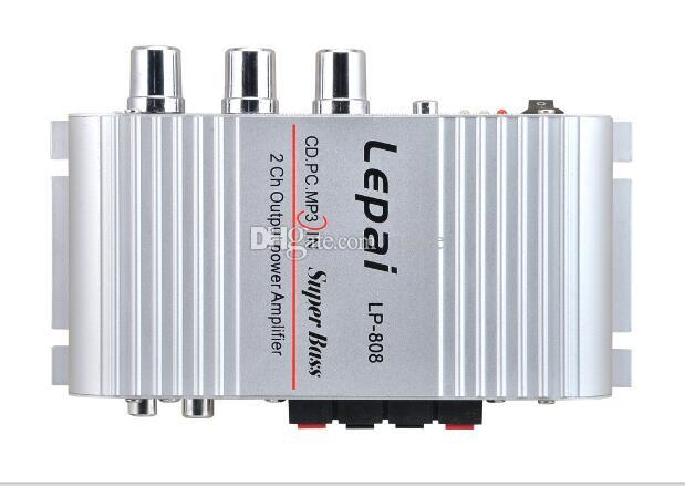New 12V MiNi Portable Wired HiFi Super Bass Amplifier for Mobile Phone MPwith Volume Control Wall Charger Super Bass