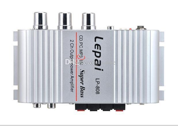 Nova 12 V MiNi Portátil HiFi Com Fio Super Bass Amplificador para o Telefone Móvel MPcom Controle de Volume Carregador De Parede Super Bass