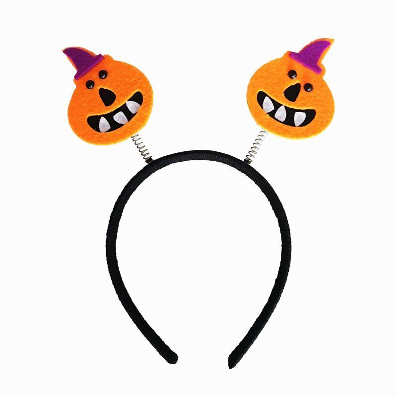 2017 Halloween headband Bats Pumpkin Spring Hair Bands Hoop Children Funny Party Headbands Headdress Kids Hair Accessories For Girl Gift 77