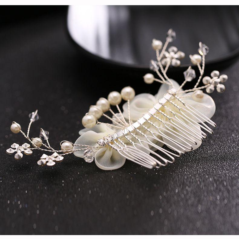 The new European decorative silk diamond Tiara Comb studio Wedding Hair Accessories Rhinestone Wedding Bridal Prom Evening Party Size7*12cm