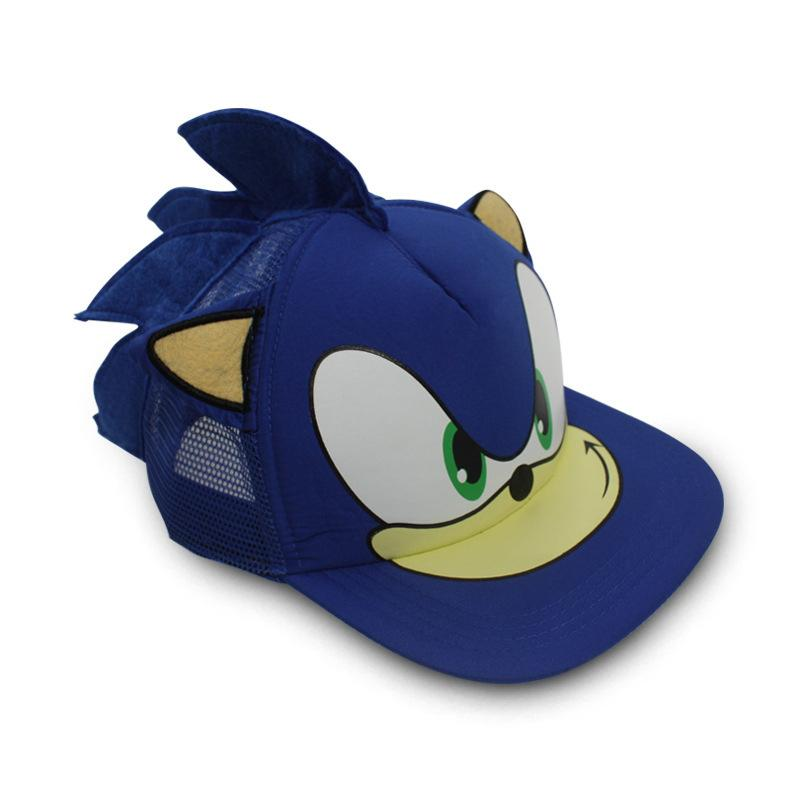 Compre Sonic Azul The Hedgehog Action Figure Brinquedos Cosplay Ajustável  Boné De Beisebol Dos Desenhos Animados Chapéu Perímetro 55 Cm De Havory 686ae01558e