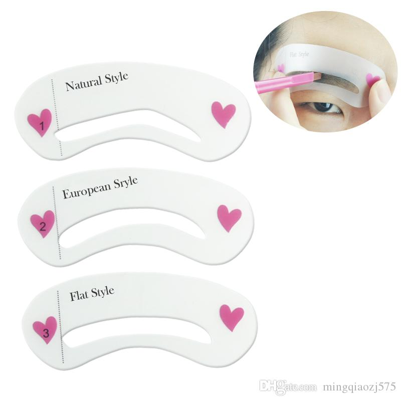 Grooming Shaping Template Eyebrow Stencils Drawing Card Brow Make Up
