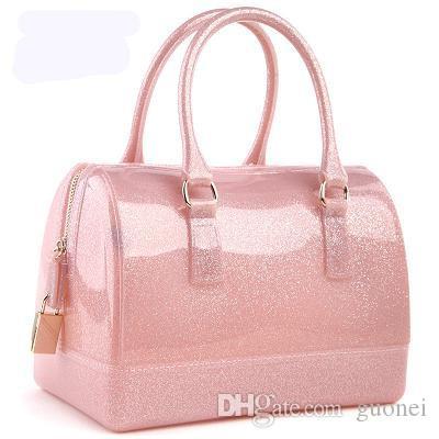 2017 new jelly candy pillow top handbag colorful bag woman bags