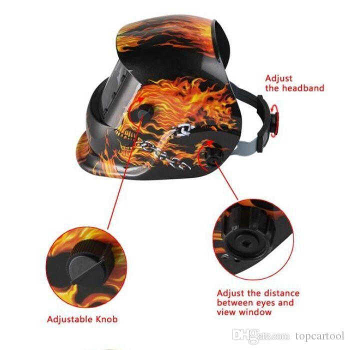 Skull Solar Auto Verdunkelung MIG MMA Elektroschweißmaske / Helm / Schweißer Cap / Schweißlinse für Schweißgerät