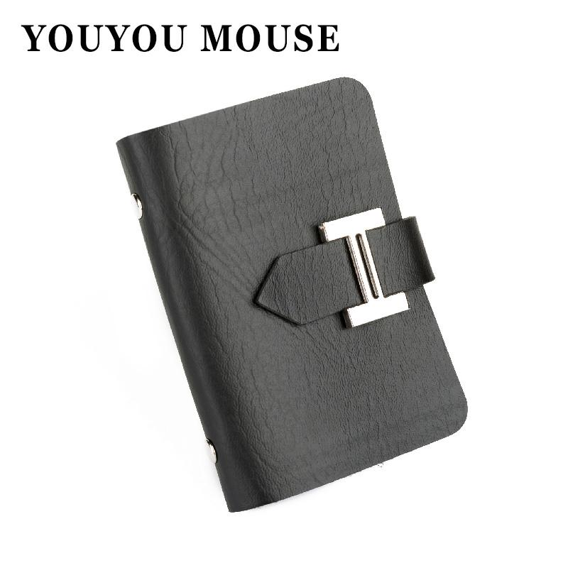 New Men & Women Business Cards Wallet Simple Pu Leather Credit Card ...