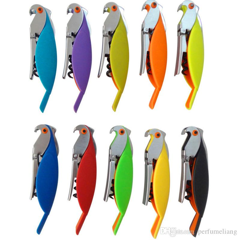 Ny multifunktion rostfritt stål flasköppnare papegoja vin korkskruv öppnare vin korkskruv verktyg kreativa reklam gåvor