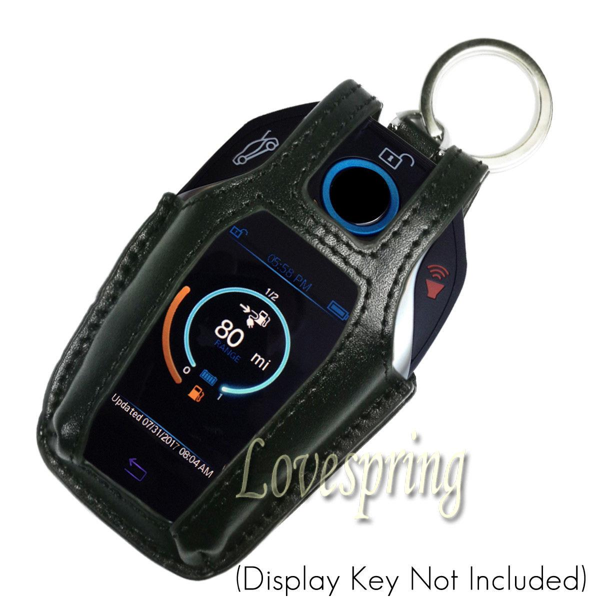 leather remote key fob cover case protector holder  bmw    series   led player