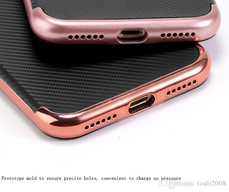 Business affairs Anti-Scratch Anti-fingerprint Shockproof Electroplate Frame with Non Slip Coated Surface Grip Case for iPhone Samsung