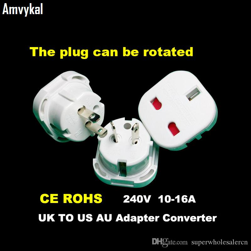 Amvykal Üst Kalite 9628 UK için ABD AU fiş adaptörü Emniyet Anahtarı Fiş Evrensel Seyahat Soket Dönüştürücü Elektrik fiş adaptörü