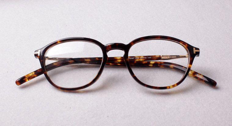 Nuevo Retro Lente transparente Marcos ópticos Gafas Diseñador de la marca Hombres Mujeres Anteojos redondos Tom 5397 Vintage Tablón de gafas Miopía Marco