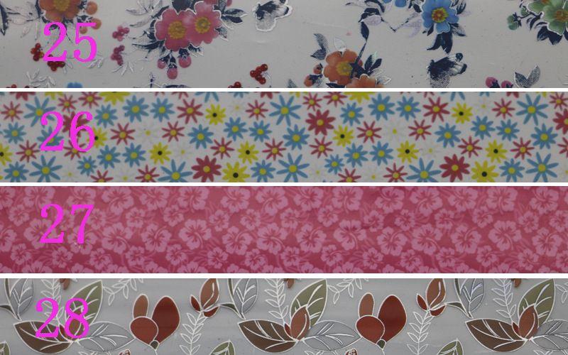 Nail art transfer foil nail sticker punta decalcomania decorazione design serie fiore fai da te rosa rosso blu verde fiore