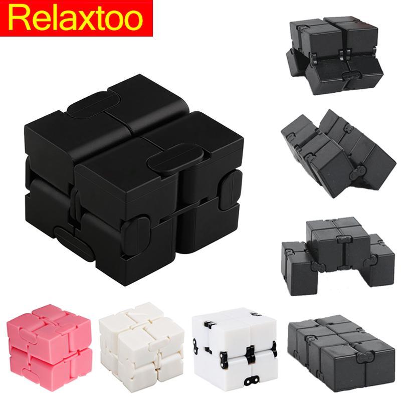 Children Magic Toys Spinner Game Plastic New 8 White Black Old Over Kids Infinite Toys Years Finger Cube Hand Magic Cubes