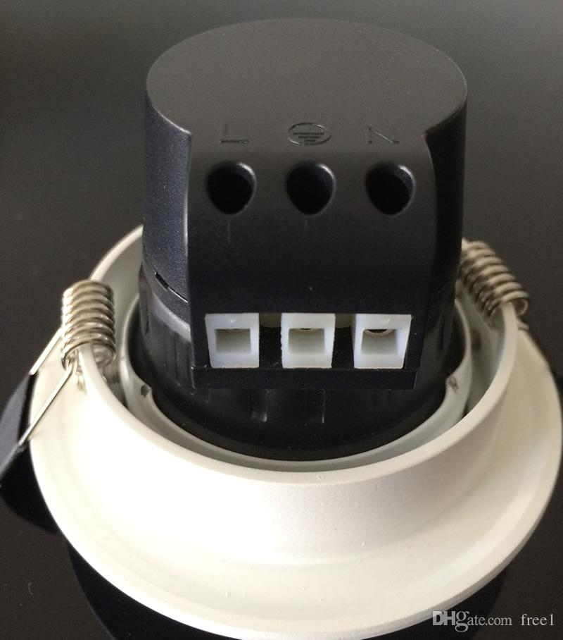 Encastré super lumineux LED Non dimmable Downlight COB 7W 10W LED Spot lumineux décoration LED Plafond Lampe AC 110V 220V + Pilotes CE