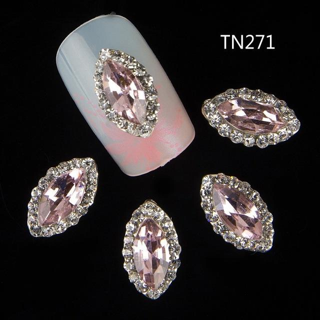 Wholesale 3d Nail Jewelry Decoration Nails Art Glitter Rhinestone