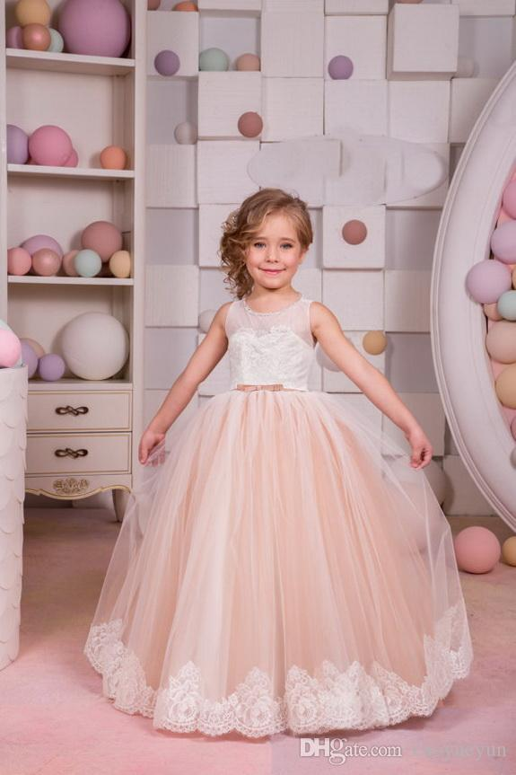 0928a9947 NEW Easter Halloween Ivory And Beige Flower Girl Dress Birthday Wedding  Party Holiday Bridesmaid Flower Girl Ivory And Beige Tulle Lac Expensive Flower  Girl ...