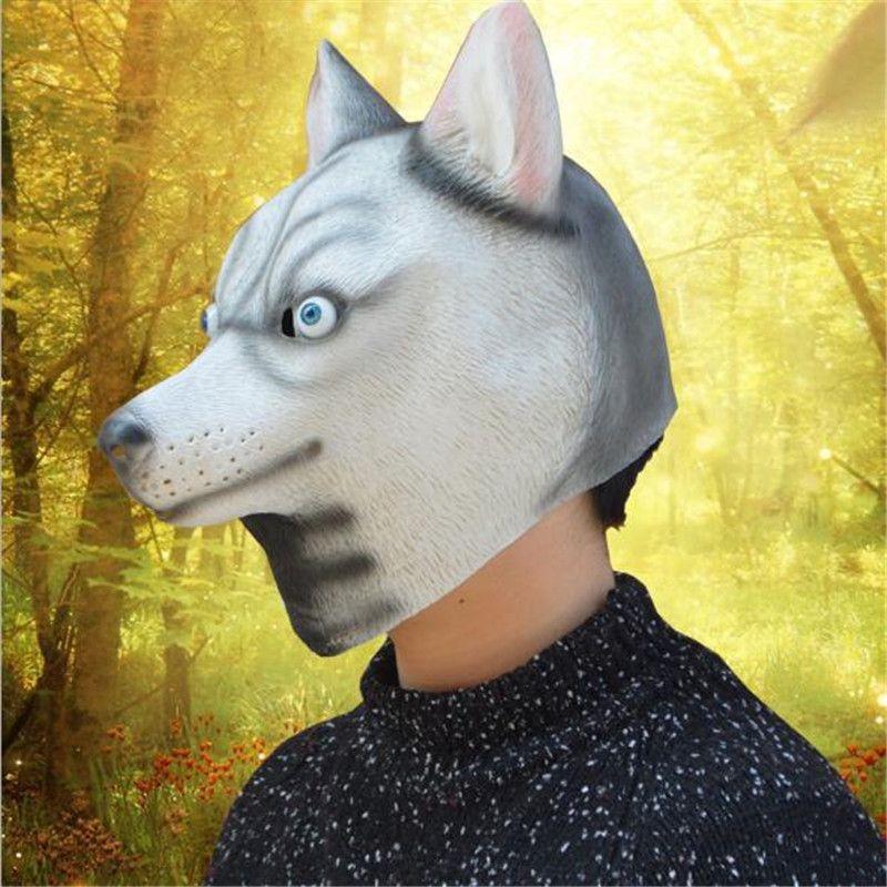 2017 Hot Sale Pug Dog Latex Mask Novelty Animal Costume Halloween Cosplay Party Mask Dog Head Mask Adult Halloween Accessory
