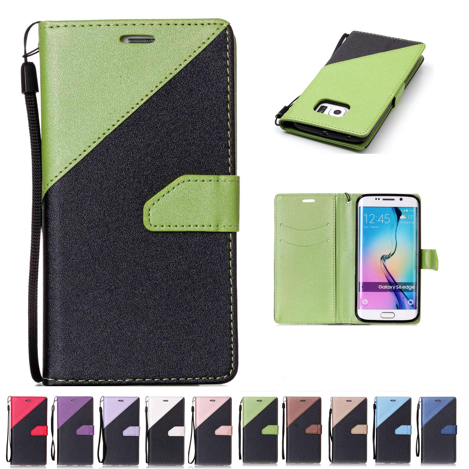 41795e385a7 For Samsung Galaxy S6 Edge Wallets Cases Stand PU Leather With Card Slot  Hand Strap Sand Beach Surface Design Custom Phone Cases Phone Cases From ...