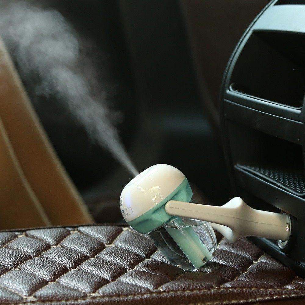 Humidificador del difusor del coche - Mini Humidificador portátil de aromaterapia del coche Purificador del difusor de aire difusor de aceite esencial Fuente de alimentación del vehículo