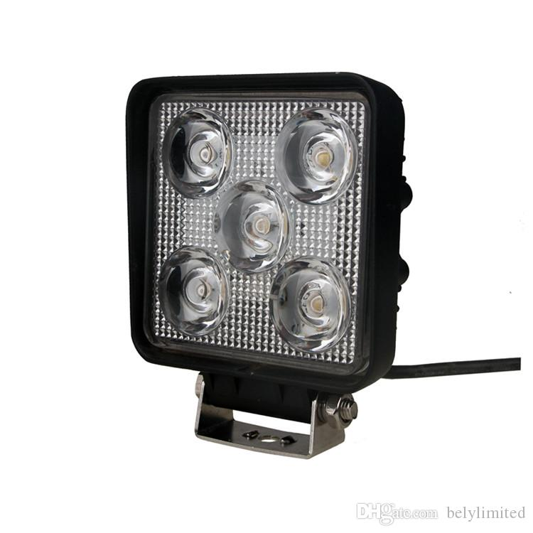 4.3'' LED work light 15W LED work lamp square 1500 lumens LED working light for tractor SUV boat offroad light