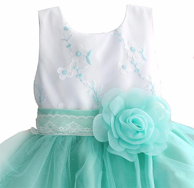 Flowers Tutu Dress For Girl Wedding Party New Brand Princess Baby Girl Dress Kids Prom Gown Children's Dresses Girl Clothes