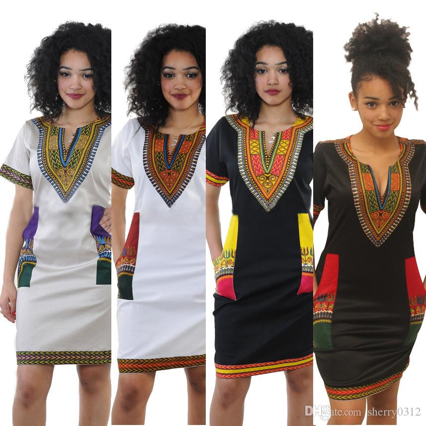 b94201cb9f5f 2017 New Fashion African Print Top Dashiki Shirt For African Women African  Dashiki Long Sleeve V Neck Bodycon Dress Good Strenchy 4 Style White Lace  Casual ...