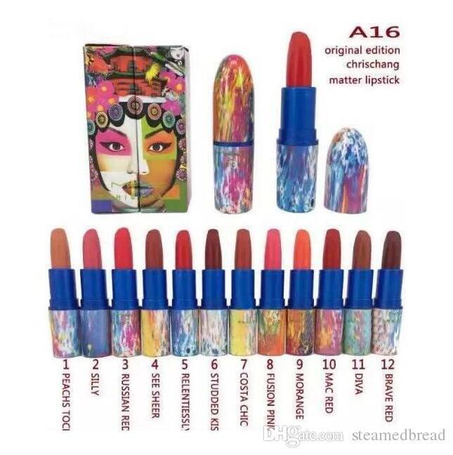 ENVÍO GRATIS CALIENTE de buena calidad El más bajo superventas buena venta El más nuevo maquillaje impermeable de larga duración MATTE LIPSTICK 3g + regalo