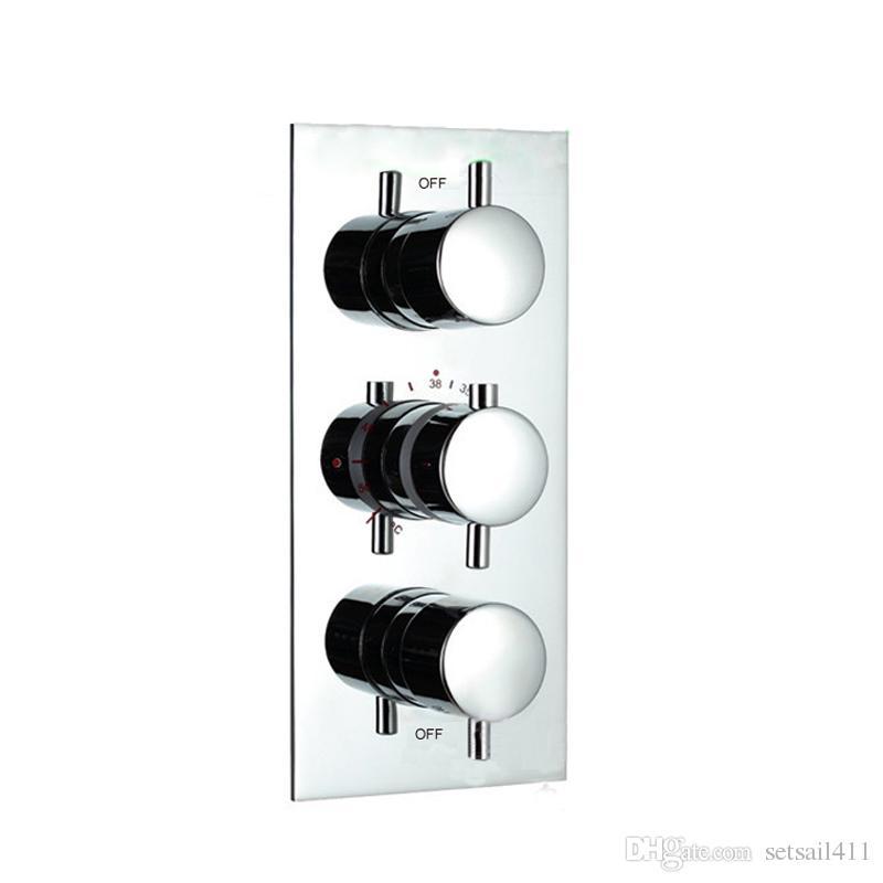 2018 Thermostatic Shower Valve Faucet Mixer Tap Temperature Control ...