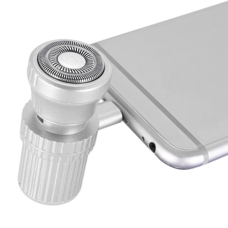 مصغرة قابلة للشحن الحلاقة السفر الهاتف المحمول الحلاقة شحن امدادات الطاقة الغرض المزدوج أبل واجهة المحمولة الرجال ماكينة حلاقة كهربائية
