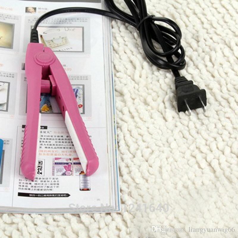 110V-240V mini Styling Tools Mini Hair Straightener Flat Iron Curler Ceramic Tourmaline Plates 35W