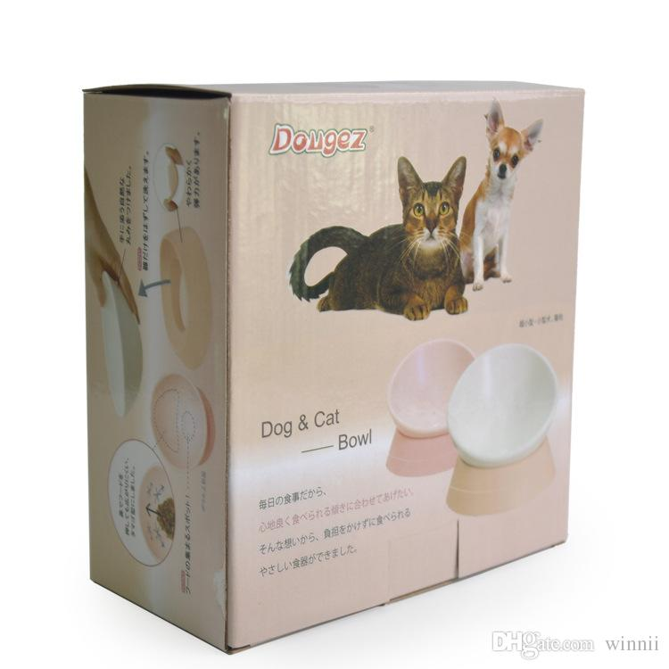 The new Japanese any angle tilt non - slip pet bowl flat face cat bowl of pet supplies