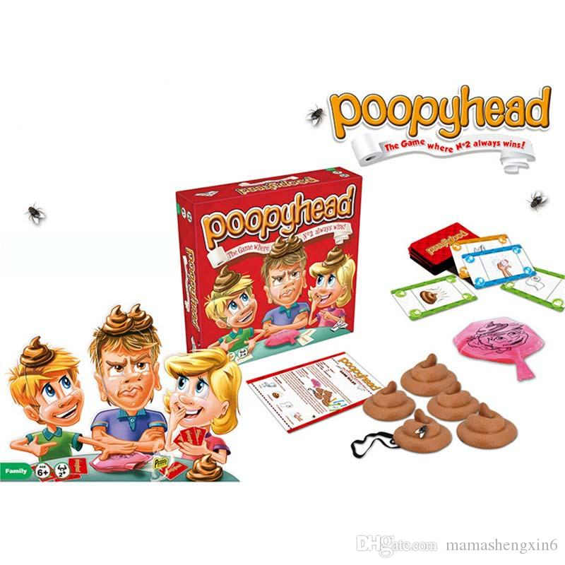 Children Poopyhead Dirty Action Cards Desktop Games Kids Chess Trickery Toys Stools Tuo Feces Infants Solitaire Stool Hot Toys