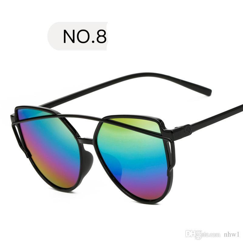 Fashion Brand Sunglasses For Women Cat Eye Sun Glasses Male Mirror Sunglasses Men Glasses Female Vintage Gold Glasses