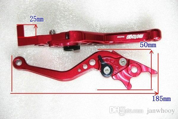 Freies verschiffen Motorrad modifizierte scheibenbremse hebel vorne-hinten scheibenbremse hebel elektrische motorradrad bremshebel cnc geschnitten