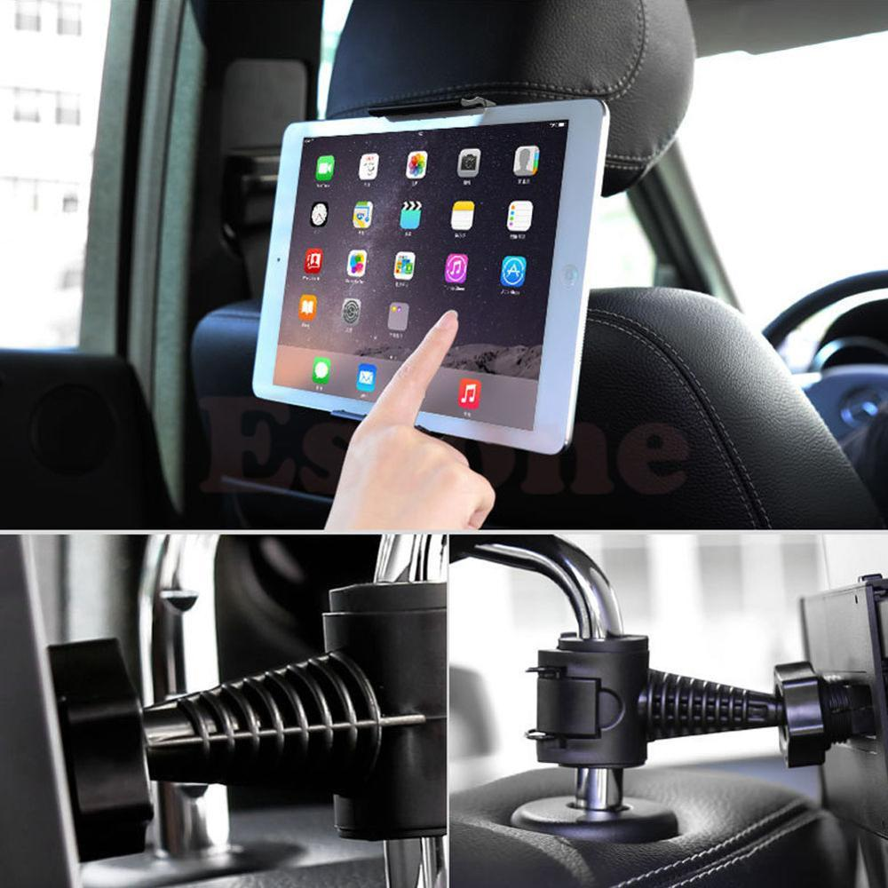 Wholesale- NEW Universal Back 360 Degree Rotation Adjustable Car Seat Headrest Mount Holder Stand For Samsung/iPad GPS Tablet PCGAF5