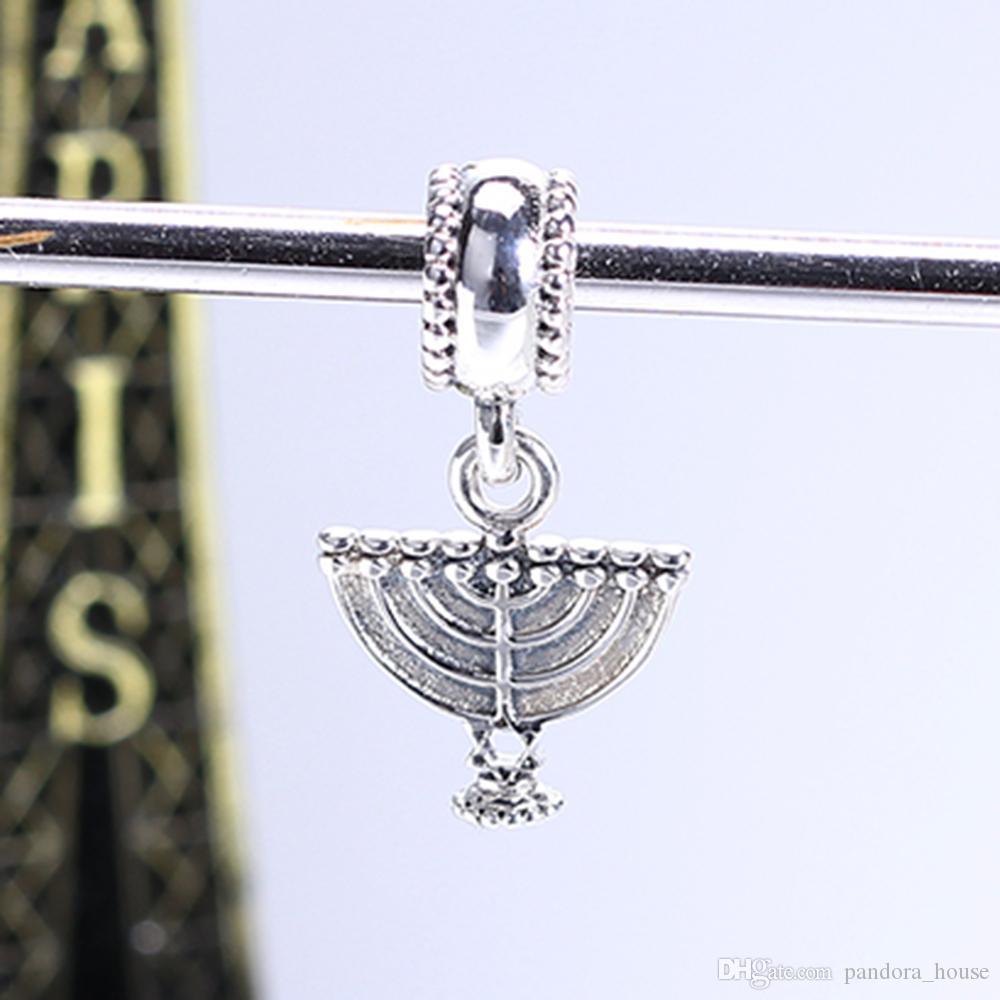 En gros 925 Sterling Silver Non Plaqué FAN CHARM Charms Européens Perles Fit Pandora Serpent Chaîne Bracelet DIY Bijoux