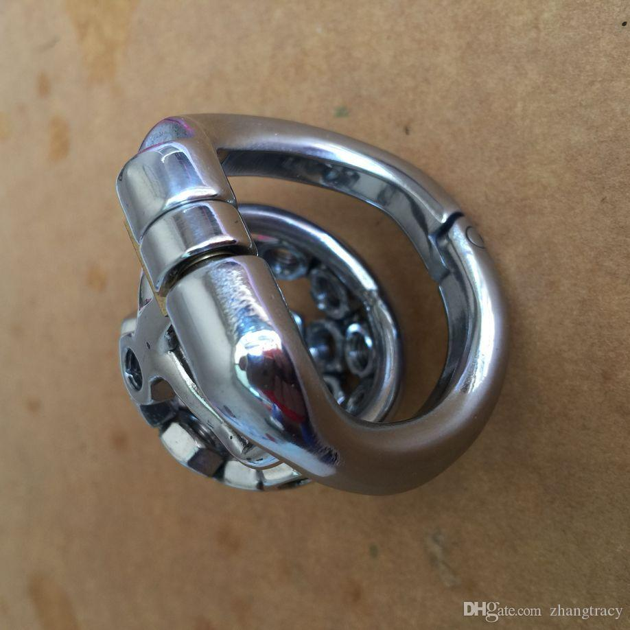 2017 고품질 남성 스테인레스 스틸 작은 남성의 순 결 장치 50mm 수 탉 케이지 BDSM 섹스 토이