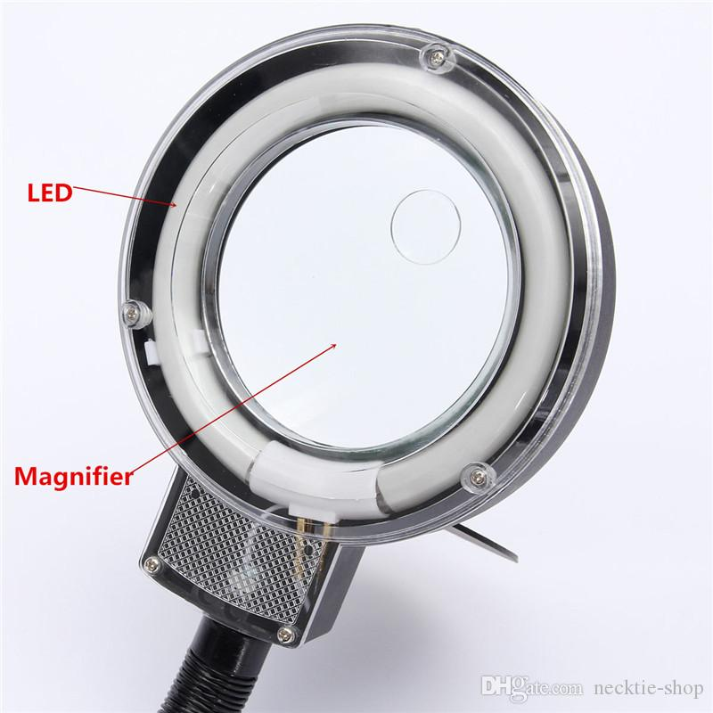 5-10X Portable LED Folded Reading Desk Table Study Light Night Lamp+ Magnifying Glass Watch Repair Tool