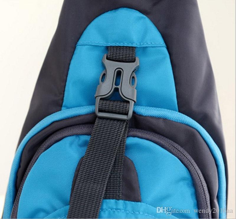 50 adet / grup 2017 Yeni Göğüs çantası Erkek Kadın Naylon Su Geçirmez Spor Göğüs Kılıfı Çanta Omuz Çantası Sapan Naylon Koşu Açık Çapraz Vücut Çanta